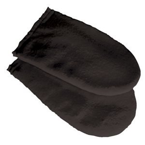 Deo 100% Cotton Black Manicure Mitts