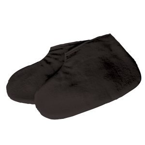 Deo 100% Cotton Black Pedicure Booties