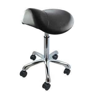 Deo Black Saddle Stool