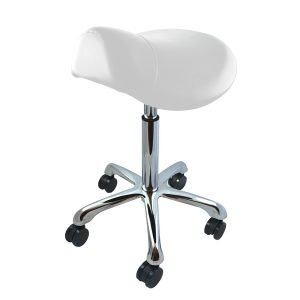 Deo White Saddle Stool